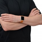 Tan Genuine Leather Apple Watch Band - 38mm, 40mm, 42mm, 44mm (SKU: PN0734AW)