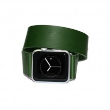 Green Double Wrap Leather Apple Watch Strap- 38mm 40mm 42mm 44mm – PN0054AW