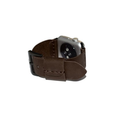 Brown Genuine Leather Apple Watch Band - 38mm, 40mm, 42mm, 44mm (SKU: PN0112AW)