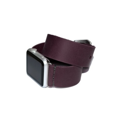 Purple Double Wrap Genuine Leather Apple Watch Band - 38mm, 40mm, 42mm, 44mm (SKU: PN0172AW)