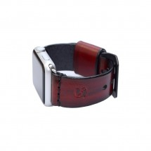 Custom Apple Watch Band Red Leather - 38mm 40mm 42mm 44mm – PN0233AW