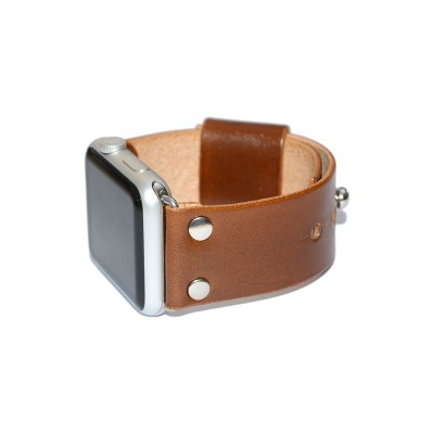 Apple Watch Band - Brown Leather - 38mm, 40mm, 42mm, 44mm (SKU: PN0251AW)