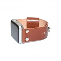 Brown Genuine Leather Apple Watch Band - 38mm 40mm 42mm 44mm – PN0252AW