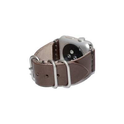Brown Leather Apple Watch Band - 38mm, 40mm, 42mm, 44mm (SKU: PN0255AW)