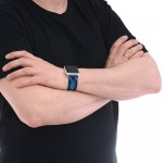Blue Leather Apple Watch Band - 38mm, 40mm, 42mm, 44mm (SKU: PN0302AW)