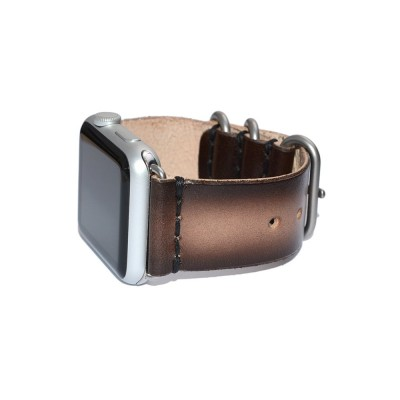 Brown Genuine Leather Apple Watch Band - 38mm, 40mm, 42mm, 44mm (SKU: PN0312AW)