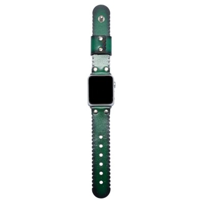 Apple Watch Band - Green Leather (SKU: PN0338AW)