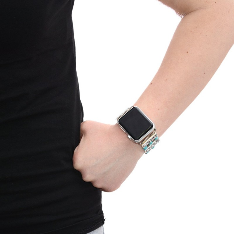 Turquoise Apple Watch Band Beads Pn0396aw Buy At Low