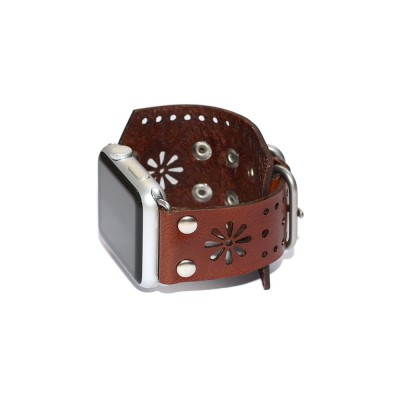 Genuine Leather Apple Watch Band - 38mm, 40mm, 42mm, 44mm (SKU: PN0436AW)