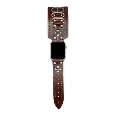 Brown Apple Watch Strap Leather - 38mm, 40mm, 42mm, 44mm (SKU: PN0439AW)