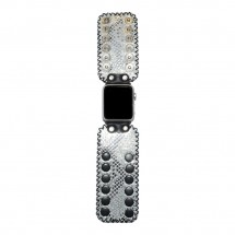 Silver Snake Apple Watch Band 42mm - 38mm