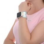 Silver SnakeApple Watch Strap Leather - 38mm, 40mm, 42mm, 44mm (SKU: PN0460AW)