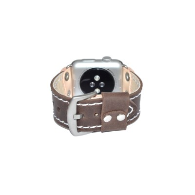 Brown Apple Watch Strap Leather - 38mm, 40mm, 42mm, 44mm (SKU: PN0541AW)