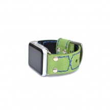 Green Apple Watch Band Leather