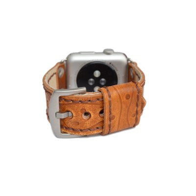 Brown Apple Watch Strap Leather - 38mm, 40mm, 42mm, 44mm (SKU: PN0624AW)