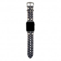 Black Genuine Leather Apple Watch Band 38mm - 42mm