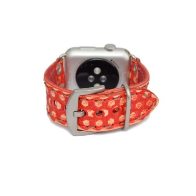 Red Apple Watch Band - 38mm, 40mm, 42mm, 44mm (SKU: PN0649AW)