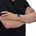 Yellow Genuine Leather Apple Watch Band - 38mm, 40mm, 42mm, 44mm (SKU: PN0658AW)