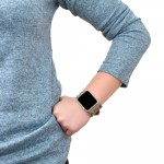 Genuine Leather and Fabric Apple Watch Band - 38mm, 40mm, 42mm, 44mm (SKU: PN0706AW)