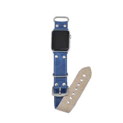 Leather and Canvas Apple Watch 38mm, 40mm, 42mm, 44mm