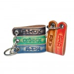 Personalized Blue Leather Key Chain (SKU: PN0160LP)