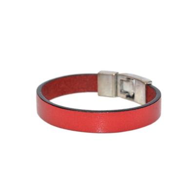 Red Leather Cuff Bracelet (SKU: PN0233L)