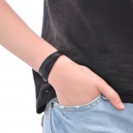 Black Double Wrap Leather Bracelet (SKU: PN0234L)