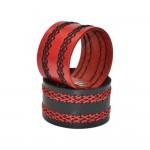 Red Leather Wide Bracelet (SKU: PN0242L)