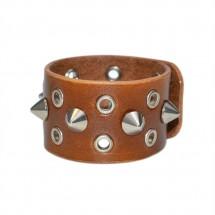 Brown Wide Leather Bracelet – PN0256L