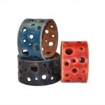 Blue Wide Leather Bracelet (SKU: PN0272L)