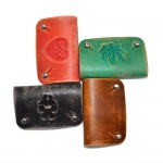 Green Leather Cord Holder (SKU: PN0292L)