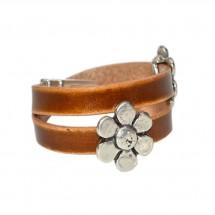Chamomile Walnut Leather Bracelet – PN0315L