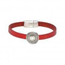 Red Leather Сircle Wrap Bracelet – PN0361L