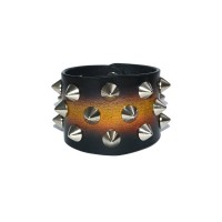 Black Wide Leather Bracelet – PN0378L