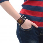 Wide Leather Cuff Bracelet (SKU: PN0386L)