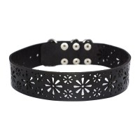 Black Leather Choker – PN0497L