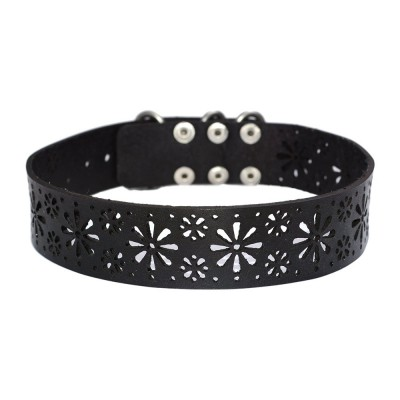 Black Leather Choker (SKU: PN0497L)