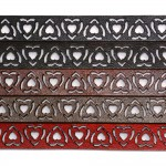 Thin Red Leather Choker (SKU: PN0544L)