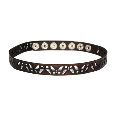 Brown Leather Choker