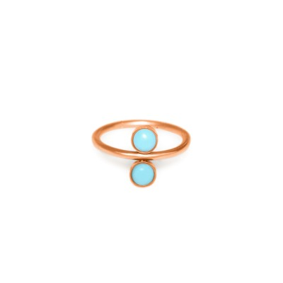 Conch Clicker Hoop with Turquoise gemstones - Surgical Steel (SKU: PN0128SSH)