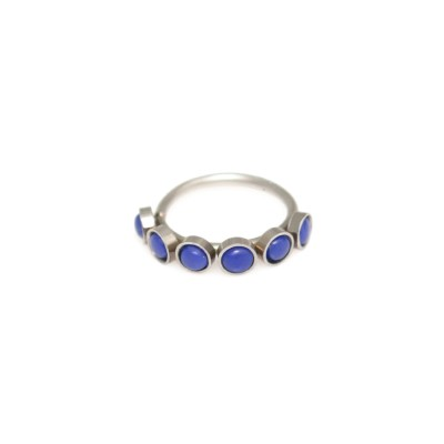 Conch Clicker Hoop with Lapis Lazuli gemstones - Surgical Steel (SKU: PN0132SSH)