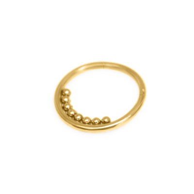 Daith Ring Piercing Jewelry - Surgical Steel (SKU: PN0179SSH)