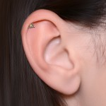 Helix Barbells with a ball and CZ gemstone - Surgical Steel (SKU: PN1339SSH)