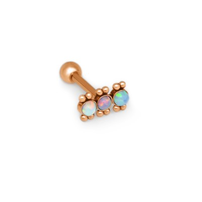 Helix Barbells with a ball and Opal gemstone - Surgical Steel (SKU: PN1380SSH)