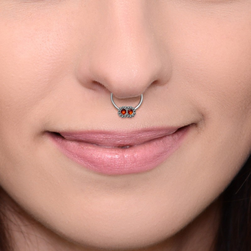 Fake Septum Ring With Cz Stones Pn2537ssh Buy At Reasonable Price