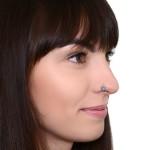 Nose Ring Hoop with Turquoises gemstones - Surgical Steel (SKU: PN1072SSH)