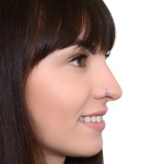 Nose Ring Hoop with Opal gemstone - Surgical Steel (SKU: PN1137SSH)