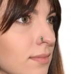 Nose Ring Hoop with CZ gemstones - Surgical Steel (SKU: PN0064SSH)