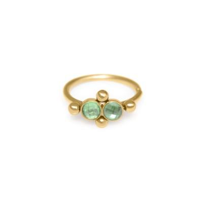 Nose Ring Hoop with CZ gemstones - Surgical Steel (SKU: PN0071SSH)