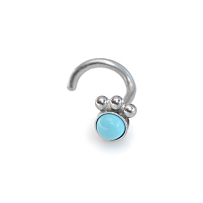3mm Turquoise Nose Stud Surgical Steel